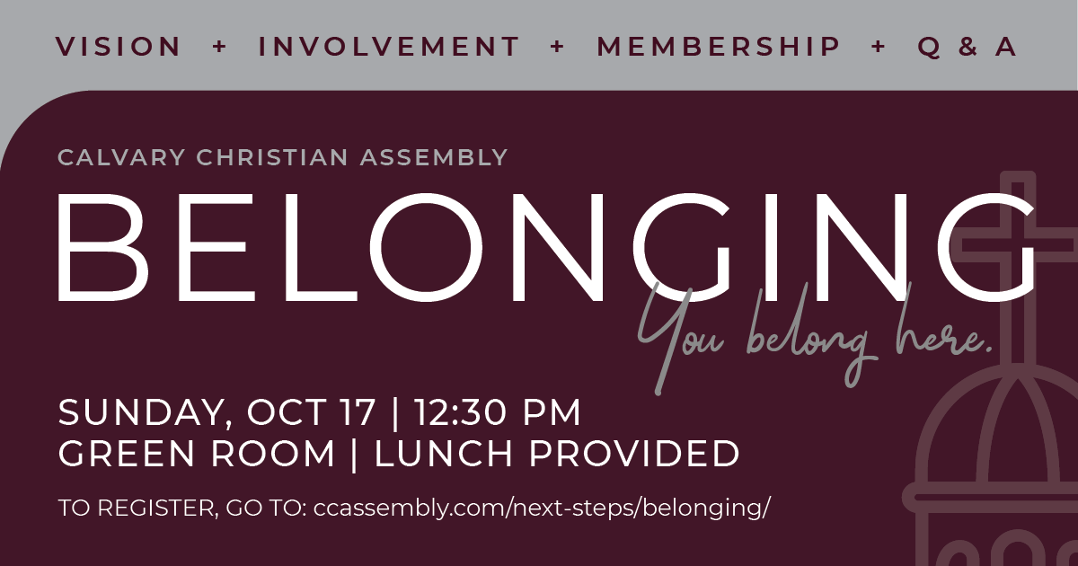 Belonging - Find Out Why Calvary