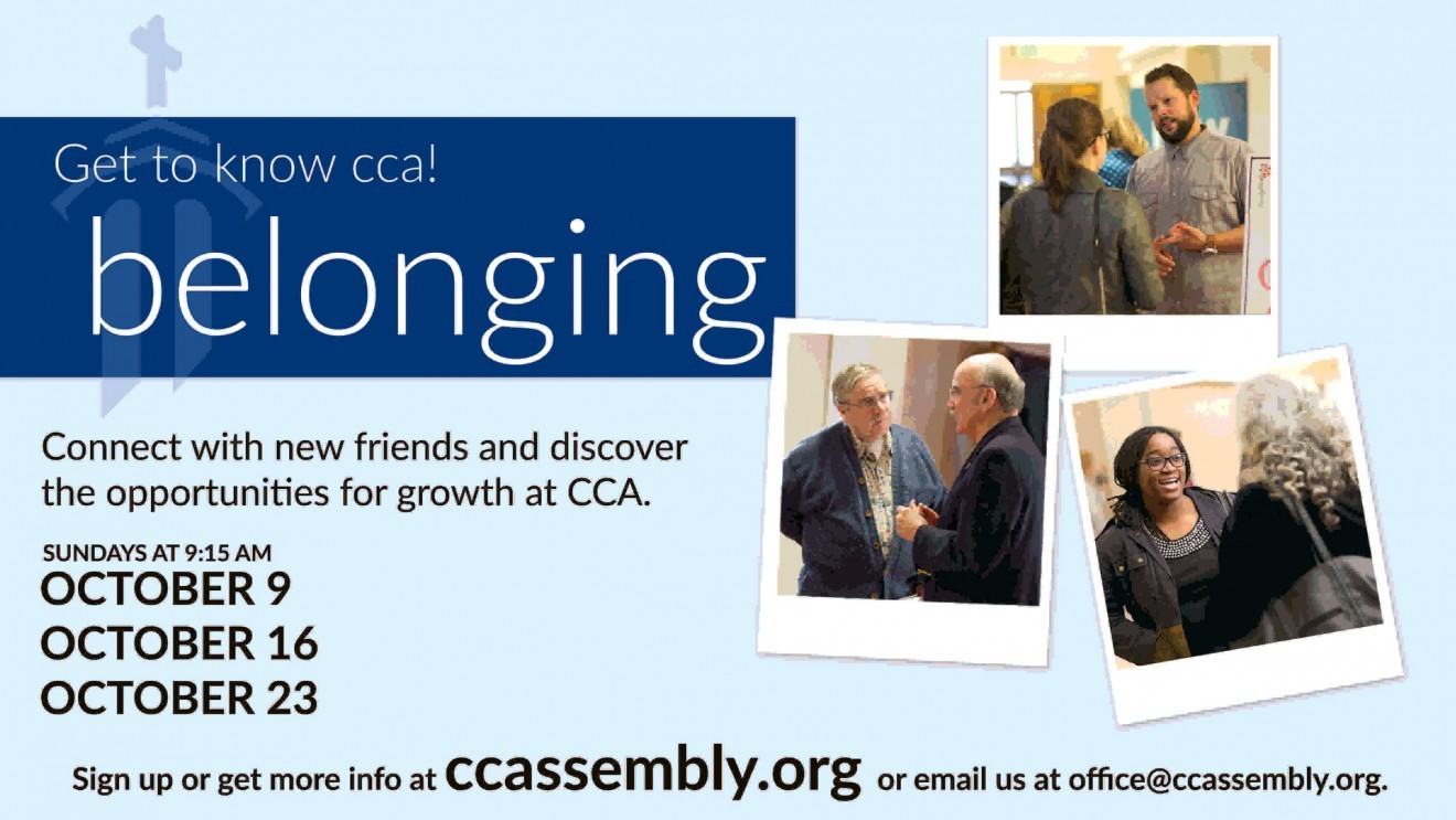 Get to Know CCA @ Belonging