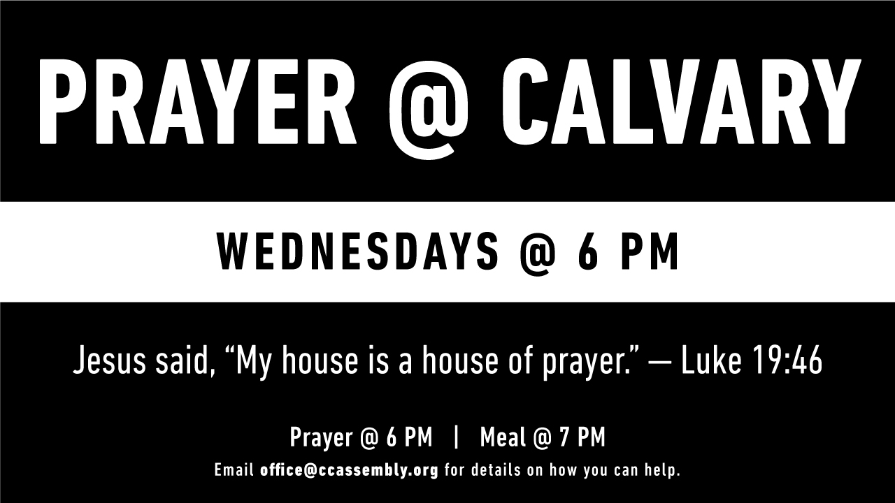 Prayer @ Calvary