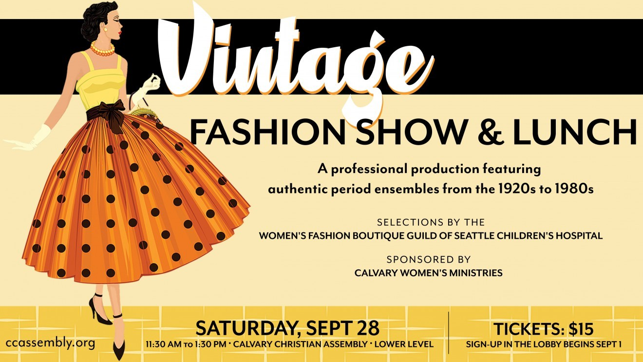 Step back in Time at the Vintage Fashion Show Luncheon