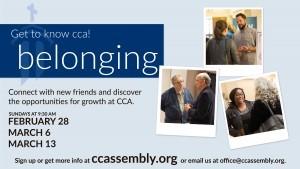 Get to Know CCA @ Belonging