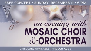 Mosaic Christmas Music Comes to CCA