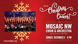 Mosaic Christmas Music Comes to CCA