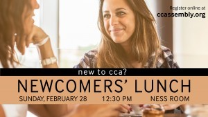 New to CCA? Join Us For Lunch