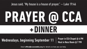 Prayer @ CCA