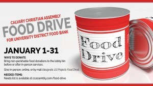 University Food Bank - January 2021 Outreach Emphasis