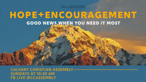 Hope + Encouragement: Good News When You Need It Most