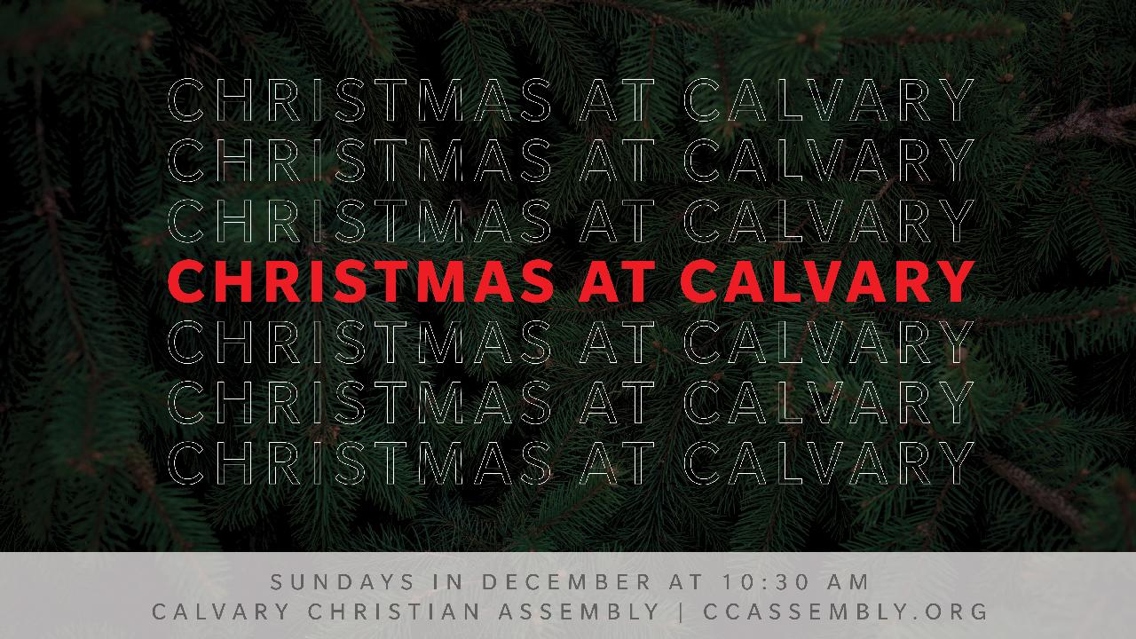 Christmas @ Calvary: Dear Future Self
