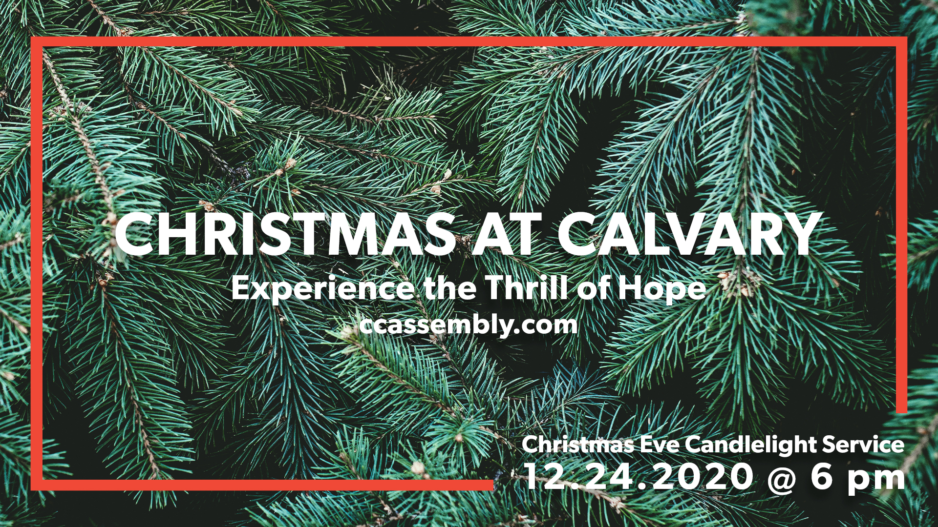Christmas Eve At Calvary: The Thrill of Hope