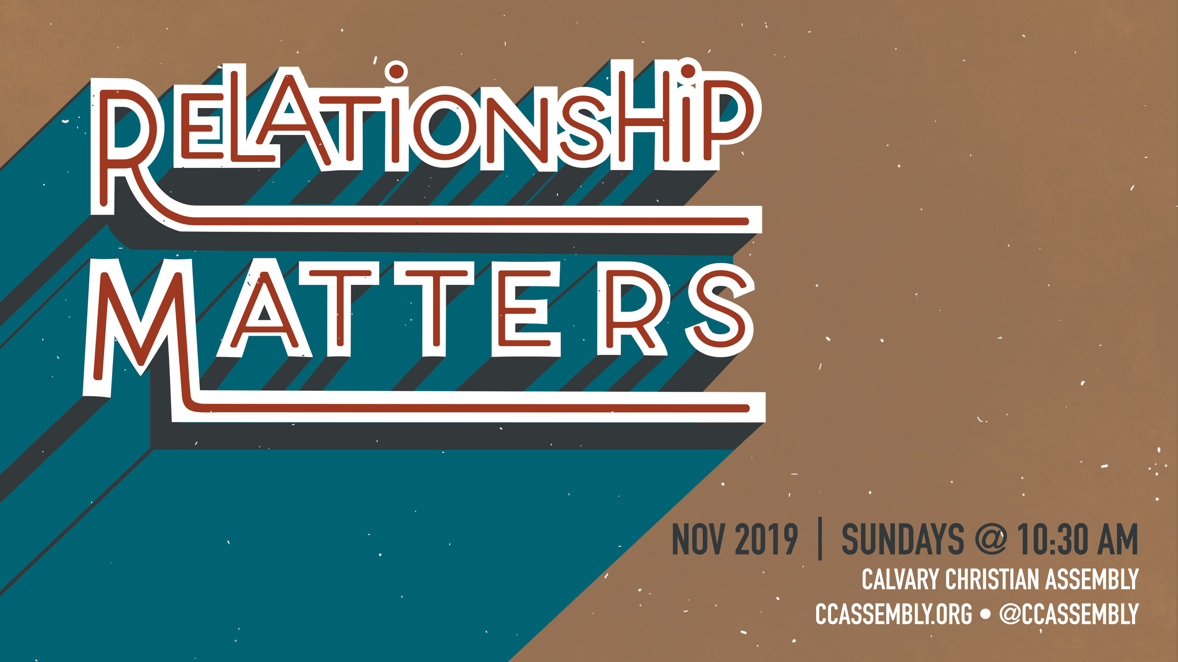 Relationship Matters: God's Grace, Our Gratitude